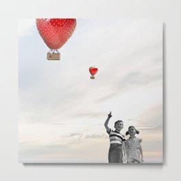 The strawberry flight Metal Print