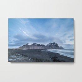 Stokknes mountain Iceland   Fine art print Metal Print