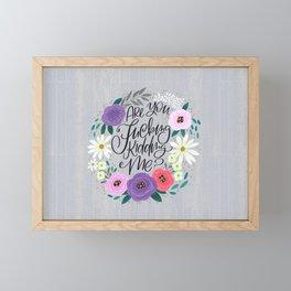 Pretty Sweary 2.0: Are You Fucking Kidding Me? Framed Mini Art Print