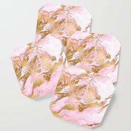 Rose Gold Mermaid Marble Coaster