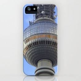 """BERLIN TV Tower with detail of """"World time Clock"""" iPhone Case"""