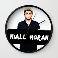 niall horan Wall Clocks featuring Niall Horan by girllarriealmighty