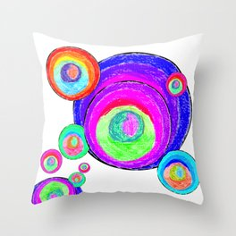 Colorful Secret Geometry | painting by Elisavet #society6 Throw Pillow
