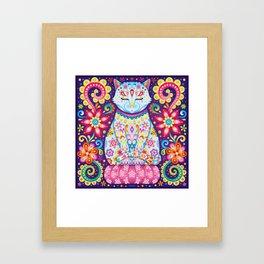 Zen Cat Framed Art Print
