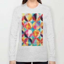 Beautiful colors Geometry, geometric abstract triangles circles squares Long Sleeve T-shirt