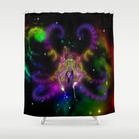cosmic Shower Curtains featuring Cosmic by GothicToggs