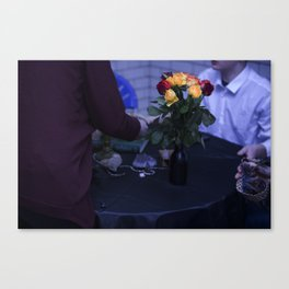 Edgy Roses Canvas Print