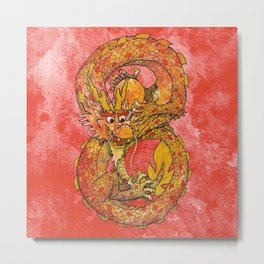 Chinese Dragon of Fortune Metal Print
