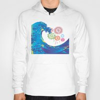 hokusai Hoodies featuring Hokusai Rainbow & Fireworks  by FACTORIE