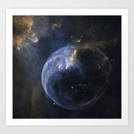 Bubble Nebula in Cassiopeia constellation. Art Print