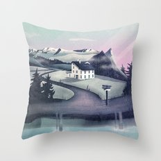 Alpine Island Throw Pillow