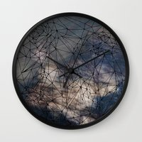 gravity Wall Clocks featuring Gravity by Louise Donovan