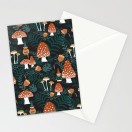 Mushroom Forest Gnomes Stationery Cards