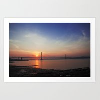 Forth Sunset Art Print