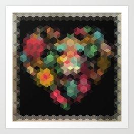 Geometric patchwork Art Print