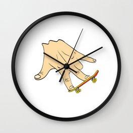 Skate Or Die, We Love Skateboarding Skate On T-shirt Design Longboard Extreme Sports Freestyle Wall Clock