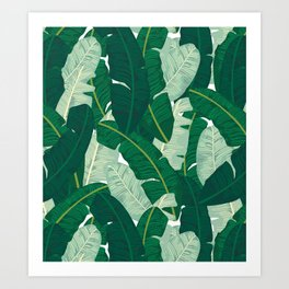 Classic Banana Leaves in Palm Springs Green Art Print
