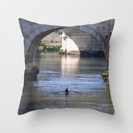 The River Under the Bridges Throw Pillow