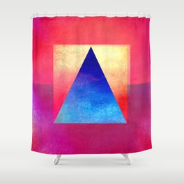 Triangle Composition VIII Shower Curtain