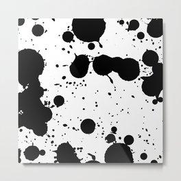 Black Drops Metal Print