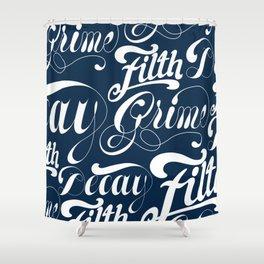Grimey Type. Shower Curtain