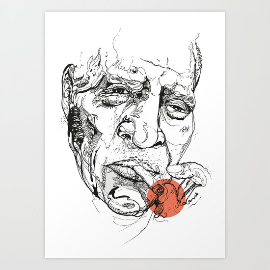 Howlin' Wolf - Get your Howl! Art Print