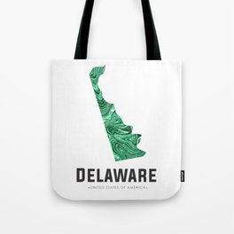 Delaware - State Map Art - Abstract Map - Green Tote Bag