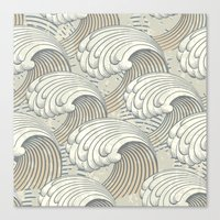 waves Canvas Prints featuring waves by Vickn