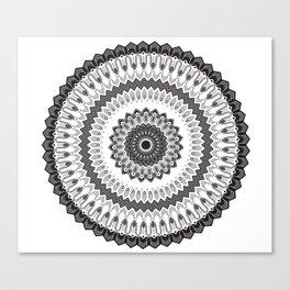 Art Deco & Navajo Fusion Inspired Mandala Canvas Print
