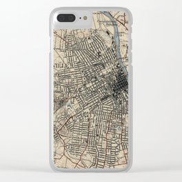 Vintage Map of Nashville Tennessee (1929) Clear iPhone Case