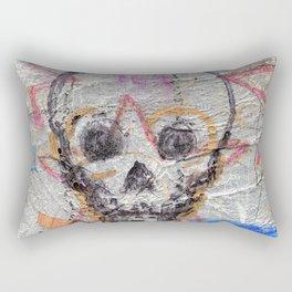 silver skull Rectangular Pillow