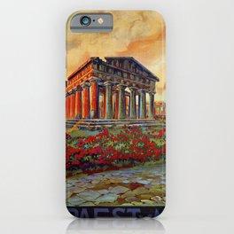 Paestum ancient Greek temple iPhone Case