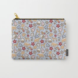 Gingerbread on light blue background Carry-All Pouch
