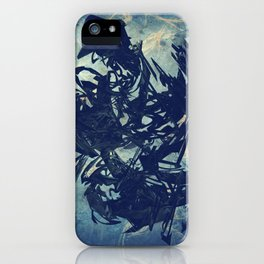 Arty Abstract Blue iPhone Case