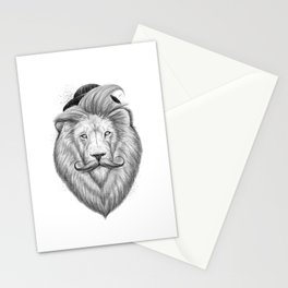 bearded lion Stationery Cards