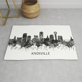 Knoxville Tennessee Skyline BW Rug