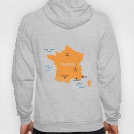 France Map Hoody