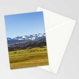 San Juan Range from North of Ridgway Colorado Stationery Cards