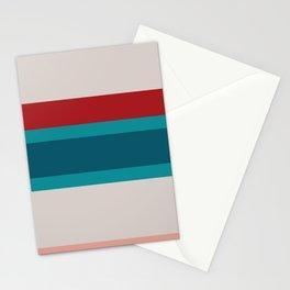 A splendid farrago of Rouge, Blush, Pastel Gray, Dark Cyan and Petrol stripes. Stationery Cards