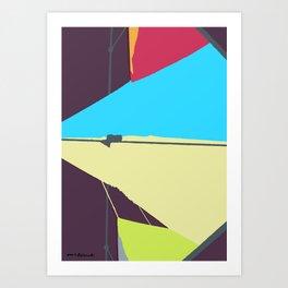 Kite—Aubergine Art Print