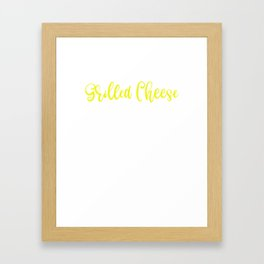 Grilled Cheese Professional Grilled Cheese Eater Framed Art Print