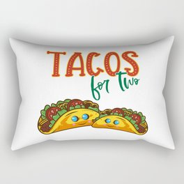Tacos for two - Funny Mexican Pregnancy Announcement Gift Rectangular Pillow