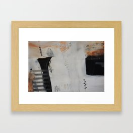 Black and white abstract Framed Art Print