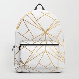 Golden Diagonal lines Pattern Backpack