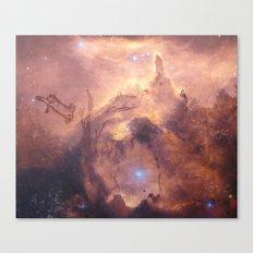 Galaxy space deer Canvas Print