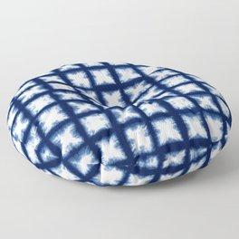 Indigo Shibori Granny Squares Floor Pillow