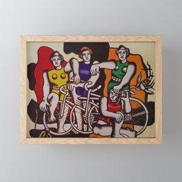 The Beautiful Cyclists by Fernand Léger Framed Mini Art Print