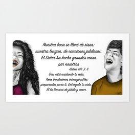 Risas - Salmo 126, 2. 3 Art Print