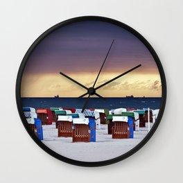 A STORM IS COMING - BALTIC SEA Wall Clock