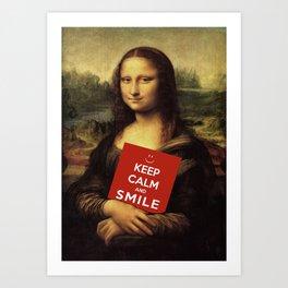 Keep Calm And Smile Art Print